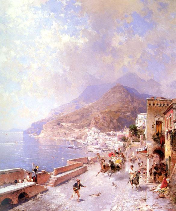 Unterberger Oil Painting Reproductions- Amalfi