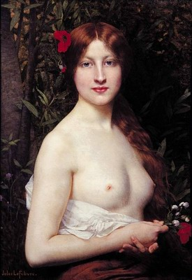 Fleurs des champs, Demi nude,oil paintings from photos