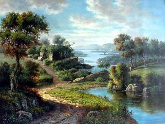 landscape art gallery artist Landscape Paintings fine art Seascape Paintings La