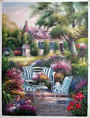 Still life painting landscape pictures Landscape oil painting