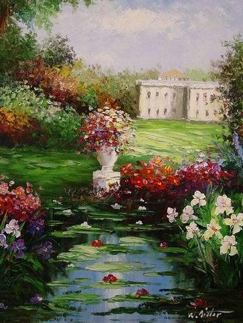 garden oil paintings Garden Garden Oil Paintings Garden oil painting