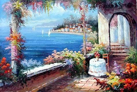 Mediterranean Sea oil painting