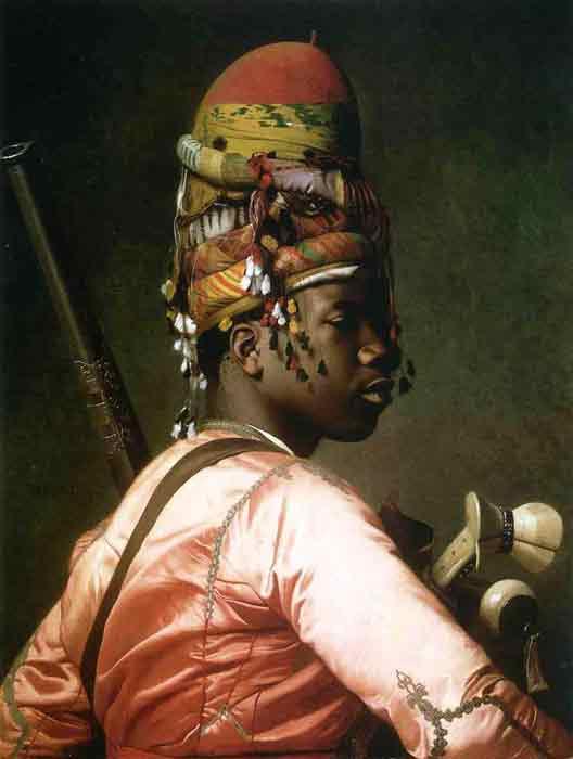 Oil painting for sale:Black Bashi-Bazouk, 1869