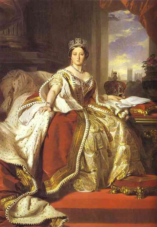 Oil painting:Queen Victoria. 1859
