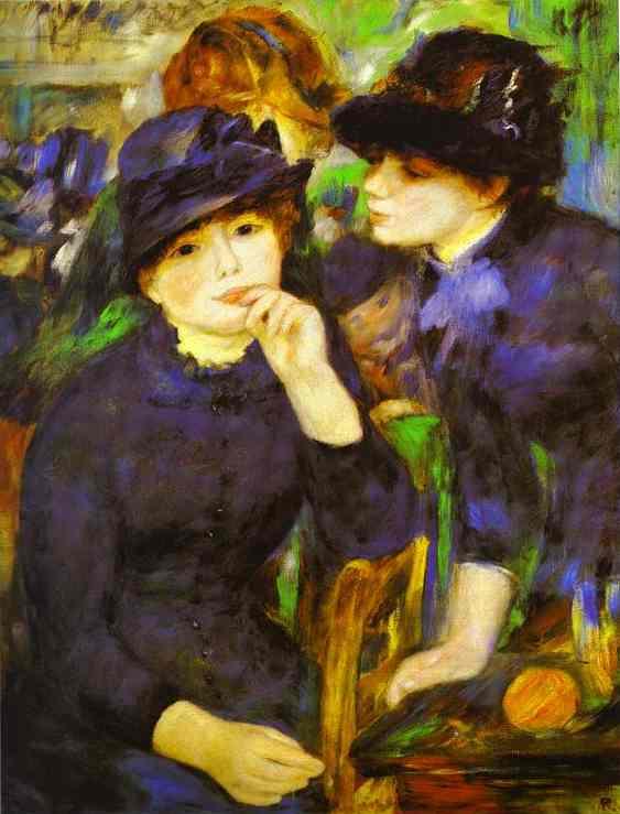 Two Girls in Black. c.1881