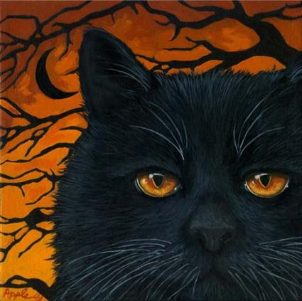 BLACK CAT .... Halloween Art #1