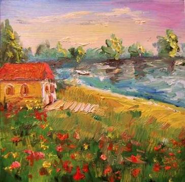 Lake Cottage impressionist