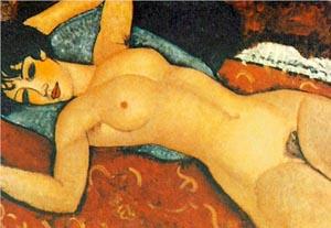 Amedeo Modigliani Nude on a Cushion 1917