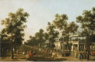 Canaletto View of the Grand Walk, Vauxhall Gardens