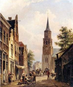 European city landscape, street landsacpe, construction, frontstore, building and architecture.023