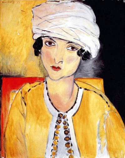 Lorette with Turban, Yellow Jacket