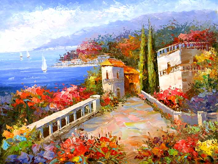 Mediterranean Impression,oil paintings online