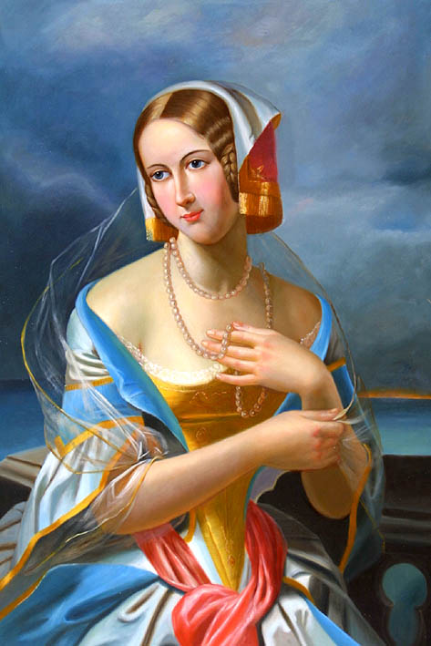 Lady with Pearl Necklace
