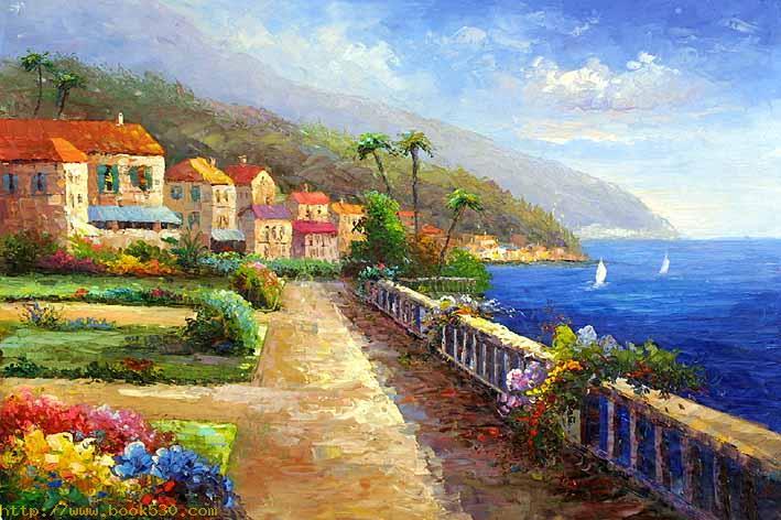Mediterranean Sea oil paintings