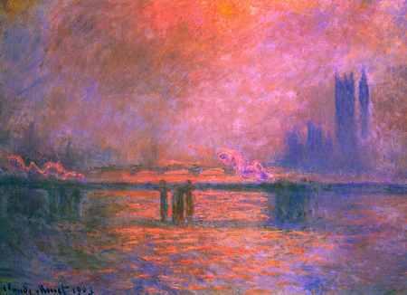 Charing Cross Bridge, la Tamise 1903