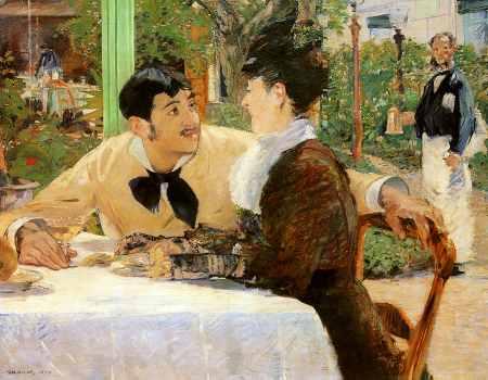 In the Garden Restaurant of Pere Lathuille