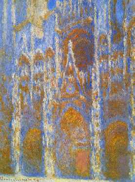 Rouen Cathedral, Sunlight Effect (detail)
