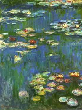 Water Lilies 1916 (portrait detail)