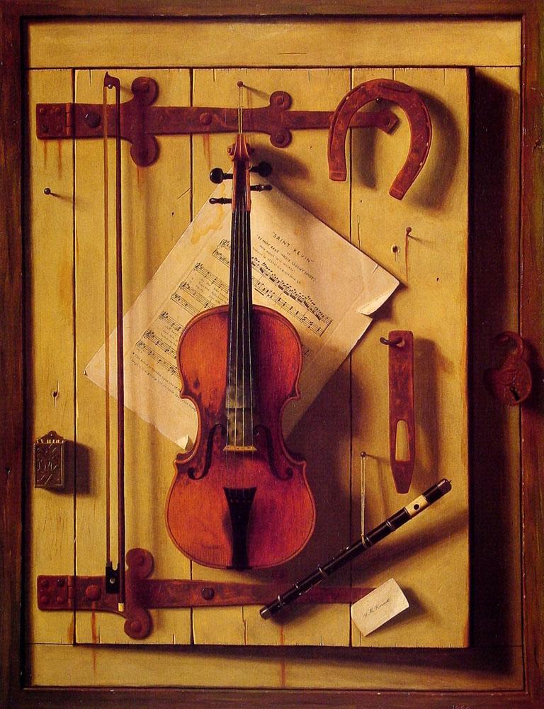 Still Life - Violin and Music