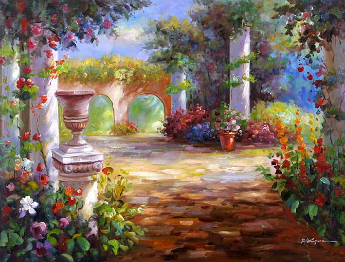 The Roman Yard oil paintings