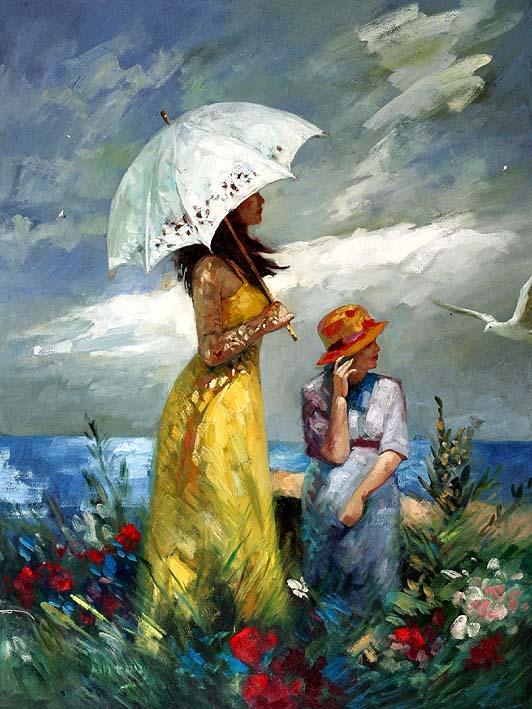 oil paintings on canvas, Maternal Wisdom, V