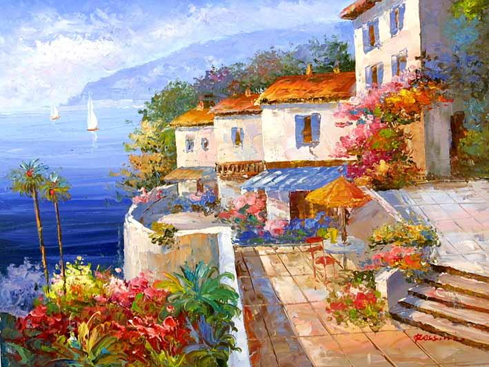 Mediterranean Impression,oil paintings