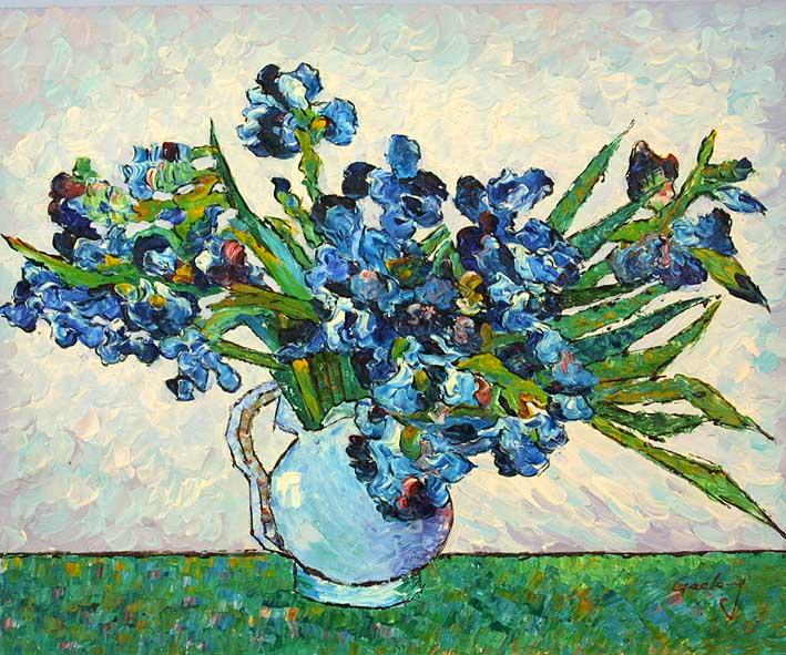 Vase with Irises