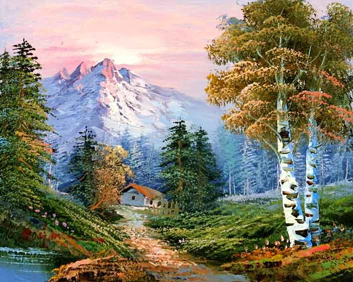 Classic Mountain Landscape - Classic Mountain Landscape,landscape Oil Painting Gallery,landscape
